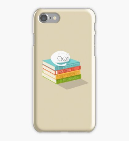 The Cat Loves Books iPhone Case/Skin