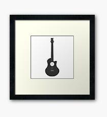 Music studio. Guitar Framed Print