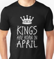 Kings Are Born In April Birthday Gift Shirt Christmas Cute Funny Aries Taurus  Zodiac T-Shirt