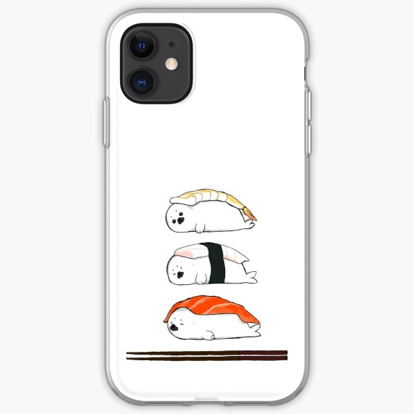 Sashimi, except it's baby Harp Seals iPhone Soft Case