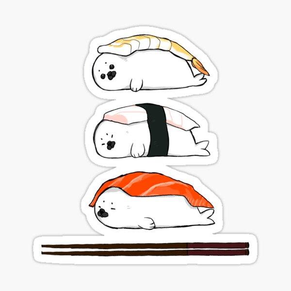 Sashimi, except it's baby Harp Seals Sticker
