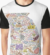 Georgia Music Map Graphic T-Shirt