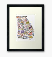 Georgia Music Map Framed Print