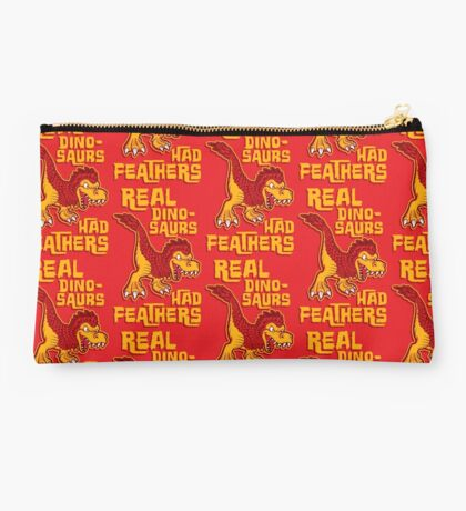 Real dinosaurs had feathers Studio Pouch