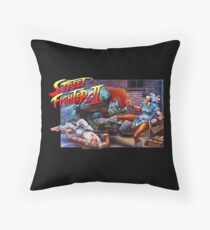 Street Fighter 2 SNES Throw Pillow