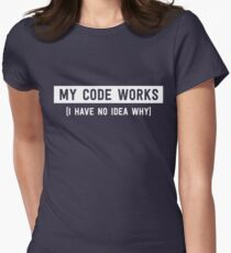 My code works (I have no idea why) Women's Fitted T-Shirt