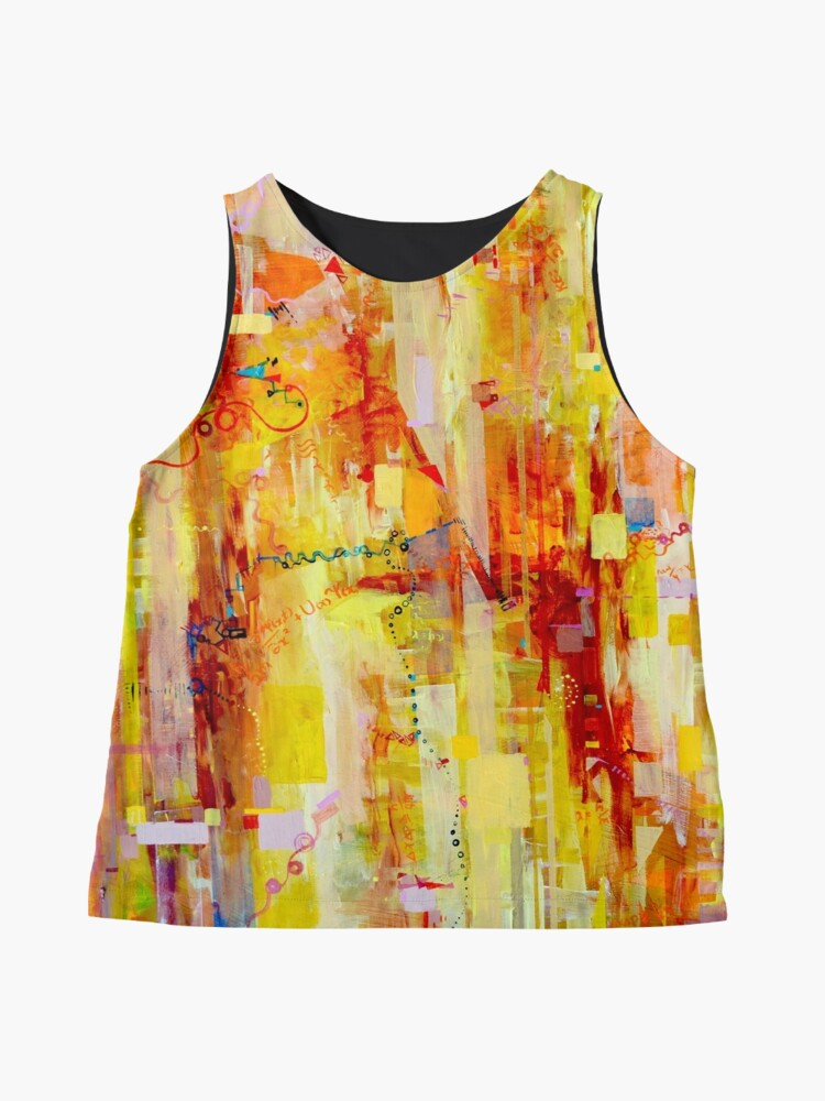 Alternate view of Written in particles and Waves Sleeveless Top