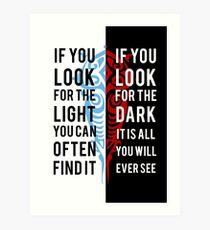 Light in the Dark Art Print