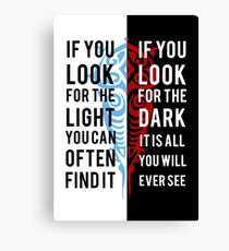Licht in der Dunkelheit Leinwanddruck