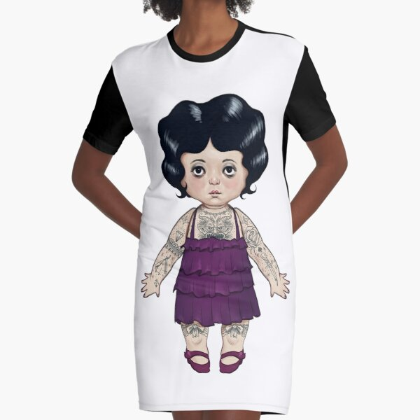 Dollie Graphic T-Shirt Dress