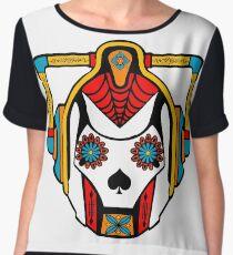 Cyberman Sugarskull Women's Chiffon Top