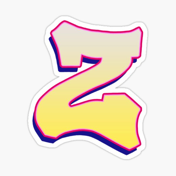 Letter Z - Yellow/Pink Sticker