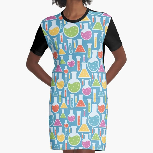 Science Laboratory Graphic T-Shirt Dress