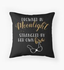 Drowned in Moonlight - Carrie Fisher Throw Pillow