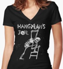 Hangman's Joke  Women's Fitted V-Neck T-Shirt