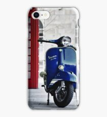 Italian Blue Vespa Rally 200 Scooter iPhone Case/Skin
