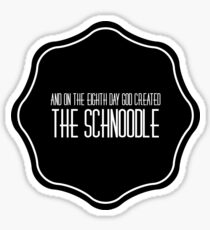 The Schnoodle Sticker