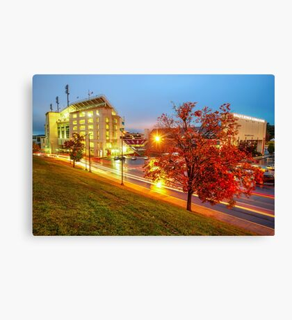 Arkansas Razorback Red - Donald W. Reynolds Stadium - Fayetteville Arkansas Canvas Print