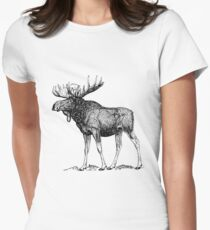 bull moose shirt Womens Fitted T-Shirt
