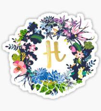 H flowers Sticker