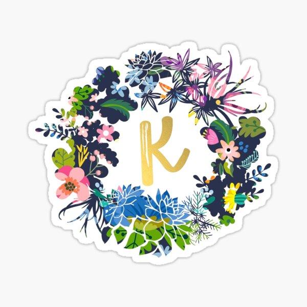 K flores Pegatina