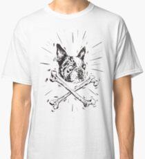 Pirate Boston Terrier Flag Classic T-Shirt