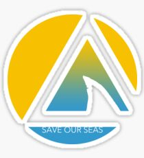 save our seas tricircle Sticker