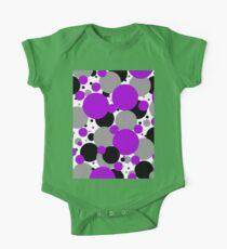Purple Polka Dots One Piece - Short Sleeve