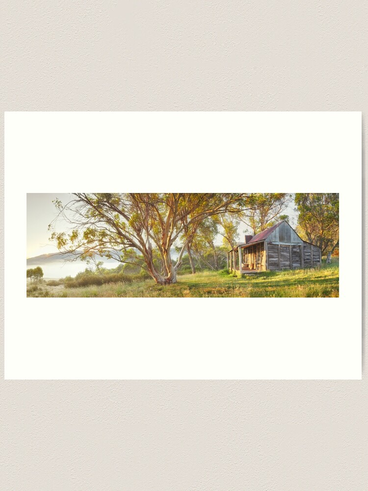 Alternate view of Wheelers Hut, Jagungal Wilderness, Kosciuszko, New South Wales, Australia Art Print
