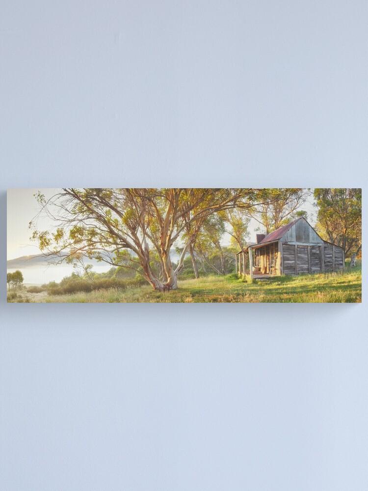 Alternate view of Wheelers Hut, Jagungal Wilderness, Kosciuszko, New South Wales, Australia Canvas Print