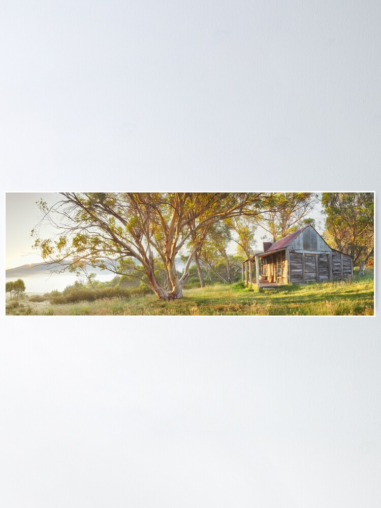 Alternate view of Wheelers Hut, Jagungal Wilderness, Kosciuszko, New South Wales, Australia Poster