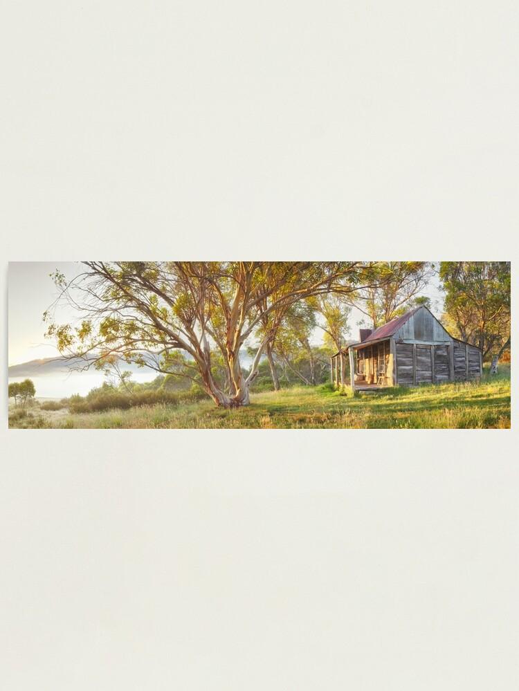 Alternate view of Wheelers Hut, Jagungal Wilderness, Kosciuszko, New South Wales, Australia Photographic Print