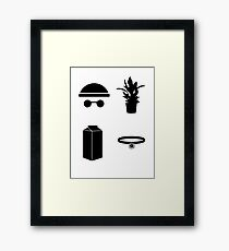 Leon The Minimal Framed Print
