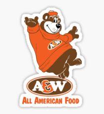 A&W Sticker