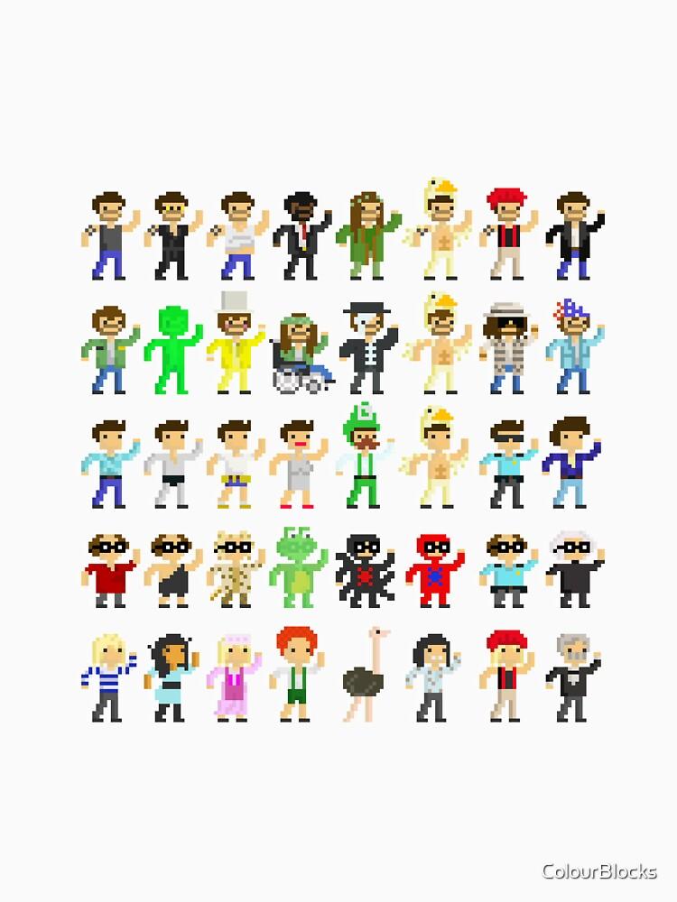 Paddy's Pub Charaktere Transparent von ColourBlocks