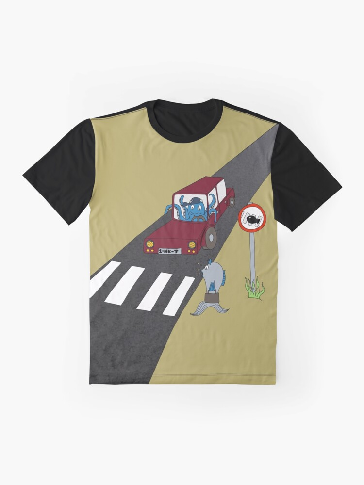 Alternate view of Fish Crossing Graphic T-Shirt