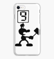 Game and Watch 9 Hammer iPhone Case/Skin