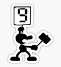 Game and Watch 9 Hammer Sticker