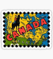 Canada Map Mountie Vintage Travel Decal Sticker