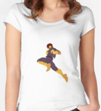 Captain Falcon Knee Women's Fitted Scoop T-Shirt