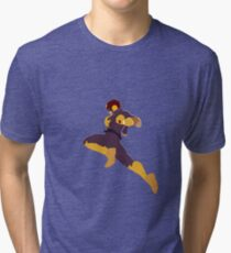Captain Falcon Knee Tri-blend T-Shirt
