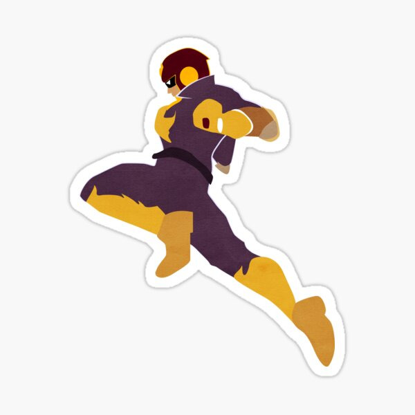 Captain Falcon Knee Sticker
