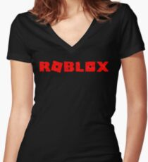 Roblox 'worn out' logo  Women's Fitted V-Neck T-Shirt
