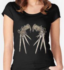 Scissorhands - Sepia   Women's Fitted Scoop T-Shirt