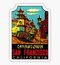 Chinatown San Francisco Vintage Travel Decal Sticker