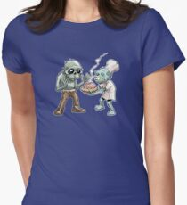 Zombies Share Pie Womens Fitted T-Shirt