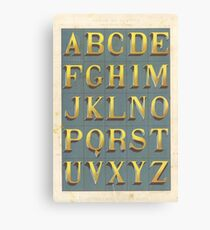 Vintage font typography Canvas Print