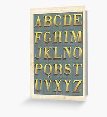 Vintage font typography Greeting Card