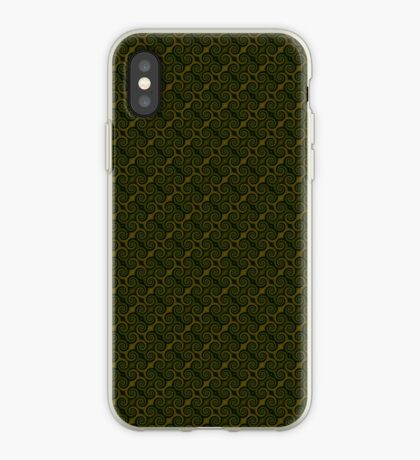 Juniper Green Swirl iPhone Case