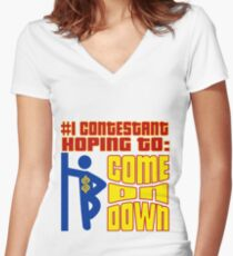 TV Game Show - TPIR (The Price Is...) Women's Fitted V-Neck T-Shirt
